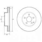 Тормозной диск DELPHI BG4945C