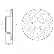Тормозной диск DELPHI BG9235C