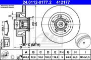 Тормозной диск ATE 24.0112-0177.2