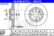 Тормозной диск ATE 24.0324-0115.1