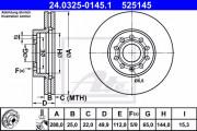 Тормозной диск ATE 24.0325-0145.1