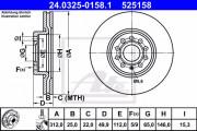 Тормозной диск ATE 24.0325-0158.1