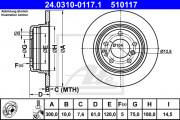 Тормозной диск ATE 24.0310-0117.1