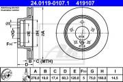 Тормозной диск ATE 24.0119-0107.1