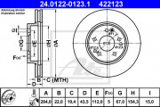 Тормозной диск ATE 24.0122-0123.1