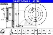 Тормозной диск ATE 24.0122-0161.1