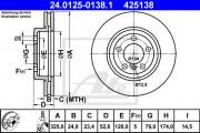 Тормозной диск ATE 24.0125-0138.1