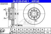 Тормозной диск ATE 24.0125-0145.1