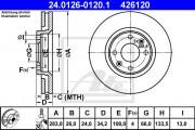 Тормозной диск ATE 24.0126-0120.1