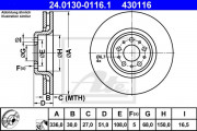 Тормозной диск ATE 24.0130-0116.1