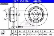 Тормозной диск ATE 24.0110-0280.1