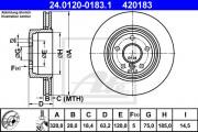 Тормозной диск ATE 24.0120-0183.1