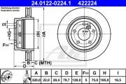 Тормозной диск ATE 24.0122-0224.1