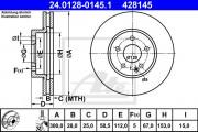 Тормозной диск ATE 24.0128-0145.1