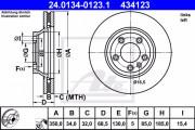 Тормозной диск ATE 24.0134-0123.1