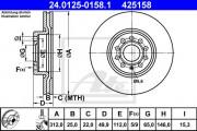 Тормозной диск ATE 24.0125-0158.1