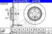 Тормозной диск ATE 24.0112-0178.1