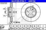 Тормозной диск ATE 24.0128-0154.1
