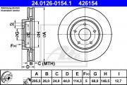 Тормозной диск ATE 24.0126-0154.1