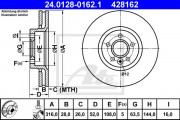 Тормозной диск ATE 24.0128-0162.1