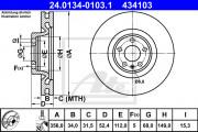Тормозной диск ATE 24.0134-0103.1