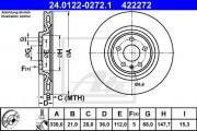 Тормозной диск ATE 24.0122-0272.1
