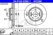 Тормозной диск ATE 24.0122-0290.1