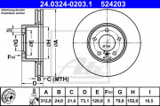 Тормозной диск ATE 24.0324-0203.1