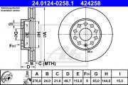 Тормозной диск ATE 24.0124-0258.1