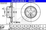 Тормозной диск ATE 24.0124-0239.2