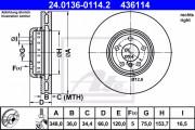 Тормозной диск ATE 24.0136-0114.2
