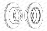 Тормозной диск BERAL BCR312A