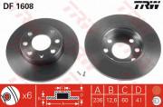 Гальмівний диск TRW DF1608
