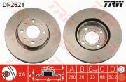 Тормозной диск TRW DF2621