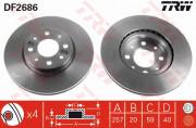Гальмівний диск TRW DF2686
