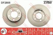 Гальмівний диск TRW DF2805