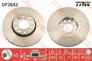 Гальмівний диск TRW DF2652