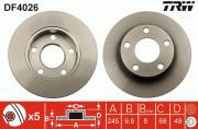 Гальмівний диск TRW DF4026