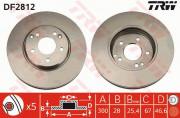 Тормозной диск TRW DF2812