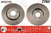Тормозной диск TRW DF4275S