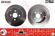 Гальмівний диск TRW DF4335