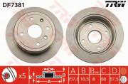 Гальмівний диск TRW DF7381
