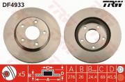 Гальмівний диск TRW DF4933