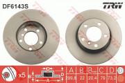 Гальмівний диск TRW DF6143S