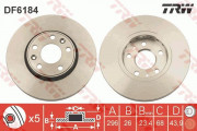Гальмівний диск TRW DF6184