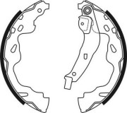 ABE Барабанные тормозные колодки ABE C02074ABE
