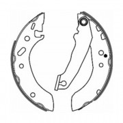 ABE Барабанные тормозные колодки ABE C0G021ABE