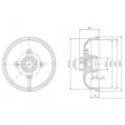 Тормозной барабан DELPHI BF111