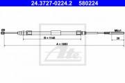Трос стояночного (ручного) тормоза ATE 24.3727-0224.2
