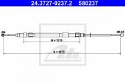 Трос стояночного (ручного) тормоза ATE 24.3727-0237.2